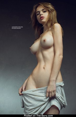 Alexandra Smelova - Yummy Topless, Non-Nude & Glamour Russian Brunette with Yummy Real Regular Titties (Hd Sexual Photo)