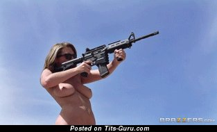 Image. Gungirl - hot woman with big natural tittys gif