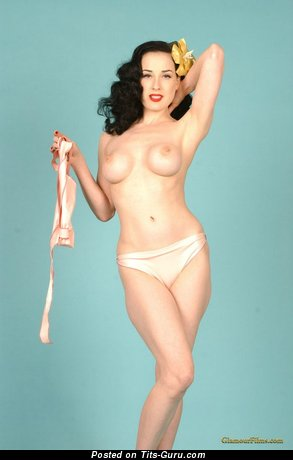 Image. Dita Von Teese - awesome girl with fake boob pic