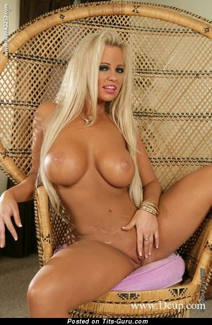 Image. Hailey Heart - sexy naked blonde with big fake breast picture