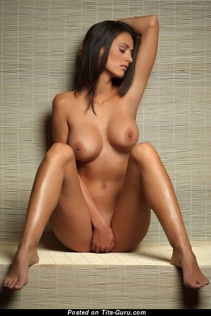 Image. Nude brunette with big breast and piercing picture