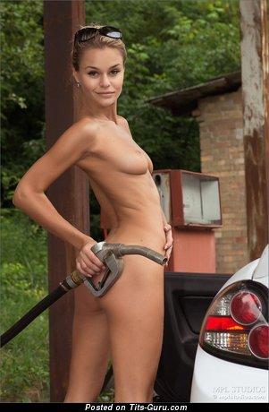 Gina - Fascinating Brunette with Fascinating Naked Regular Tots (Hd Sex Wallpaper)