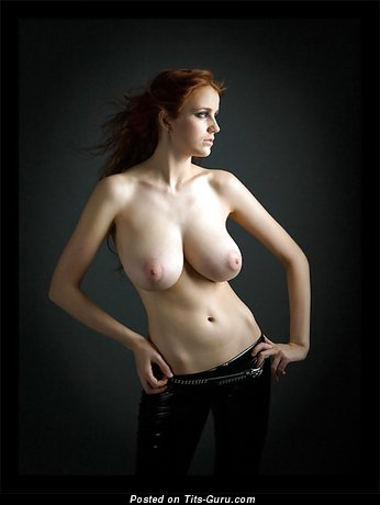 Ameliya Noita: sexy topless red hair with big natural breast image