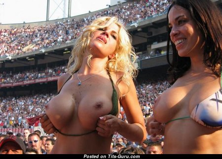 Grand Brunette & Blonde with Grand Defenseless Normal Knockers (Home Hd 18+ Photo)