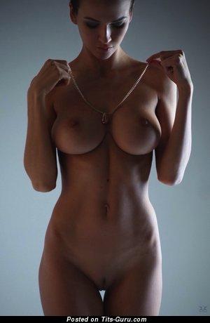 Anastasia Martzipanova - naked brunette with medium tits photo