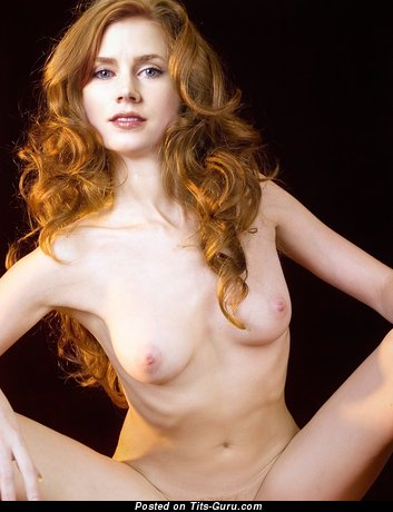 Amy Adams & Elegant Topless Italian Blonde & Red Hair Actress & Babe with Elegant Open Natural Narrow Breasts & Weird Nipples (Hd Sex Image)