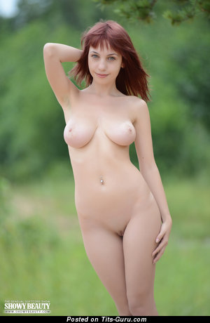Rima - sexy nude red hair with medium natural tittes photo