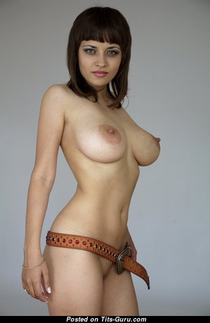 Lidia - Dazzling Playboy Chick with Dazzling Bare Natural Normal Chest (Porn Photo)