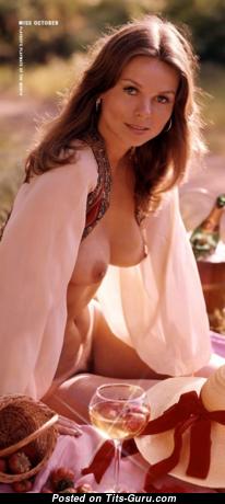 Valerie Lane: топлесс рыжая Playboy (США) с эффектной обнажённой натуральной грудью,длинными сосками,с загаром (винтажная hd 18+ фотография)