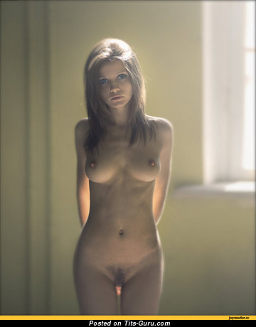 Image. Nude hot girl with medium natural boobies picture