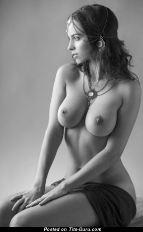 Image. Naked wonderful girl with big natural boobs photo