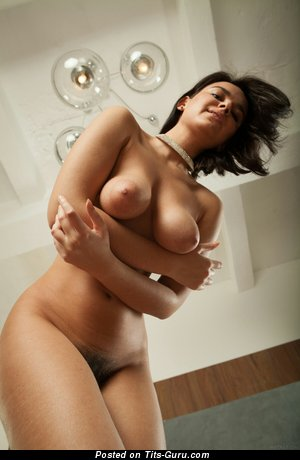 Image. Sanita - sexy naked brunette with big natural tots image