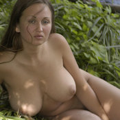 Nice girl with big natural boobs photo