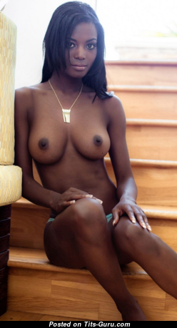 Awesome Topless Ebony Brunette with Awesome Defenseless Natural C Size Melons & Inverted Nipples (Hd Sex Pix)