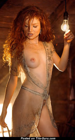 Scarlett Keegan - Amazing Playboy Red Hair with Amazing Nude Real Slight Tits & Pointy Nipples in Lingerie (Sex Pix)