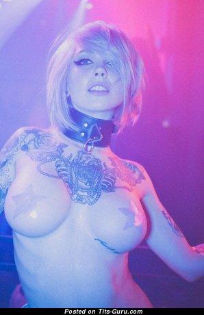 Sara X Mills - nude hot female with medium fake boobies photo