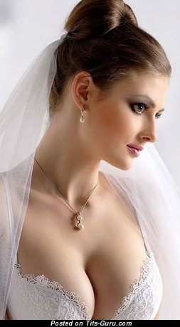 Grand Brunette Bride, Wife & Babe with Grand Defenseless Natural D Size Titty (18+ Photoshoot)