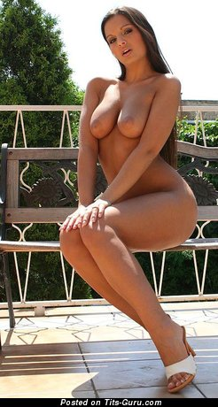 Image. Nude hot female with medium natural boob image
