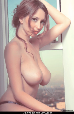Nude red hair with big natural boobies image