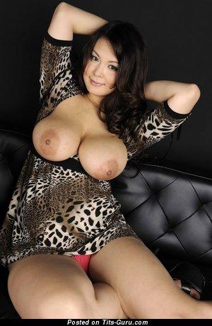 Airi Ai - Wonderful Japanese Brunette Babe with Wonderful Naked Natural Medium Melons (Hd Porn Wallpaper)