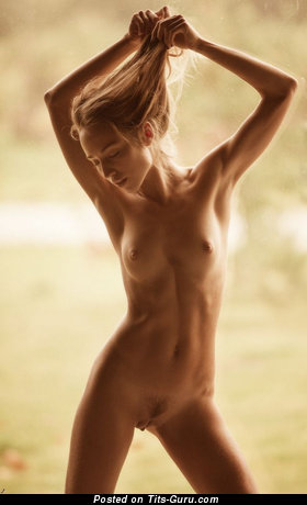 Image. Sexy nude beautiful girl with small tits photo