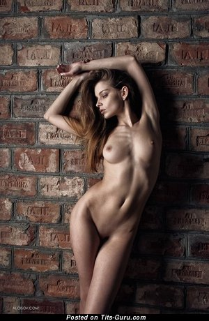 Image. Naked awesome female with medium natural breast photo