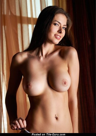 Image. Naked hot lady with medium natural breast image