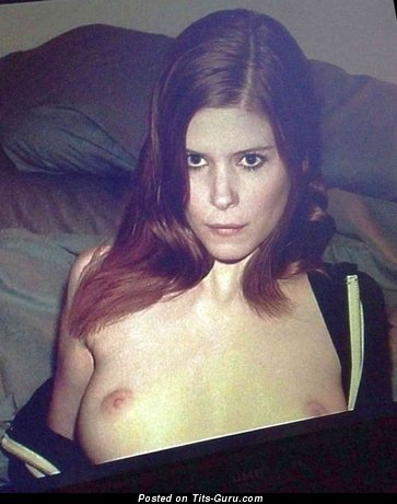 Kate Mara - Pleasing Topless American Brunette Actress with Awesome Bare Natural Normal Titty & Large Nipples (Hd Xxx Photoshoot)