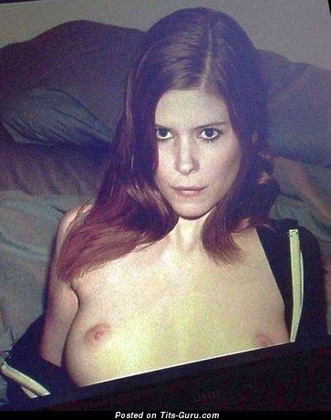 Kate Mara - Splendid Topless American Brunette Actress with Splendid Nude Real Med Boob & Red Nipples (Hd Porn Image)