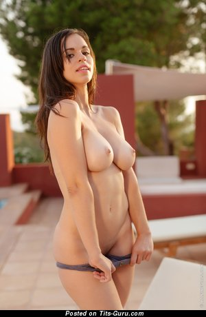 Image. Nekane A - brunette with big boobs picture