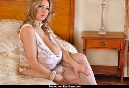 Abbi Secraa - Sexy Glamour & Non-Nude Polish Blonde with Sexy Real Vast Boob & Sexy Legs in Stockings & Lingerie (4k Xxx Picture)
