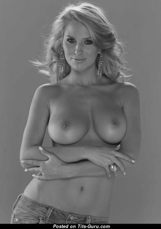 Fascinating Topless Blonde Babe with Fascinating Naked Natural Firm Hooters (Hd 18+ Photoshoot)