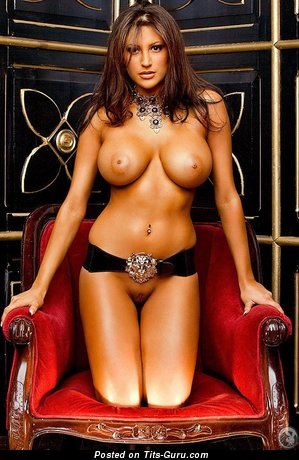 Image. Jesse Preston - sexy naked brunette with big fake boob pic