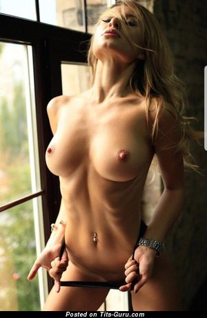Alluring Topless Blonde Babe with Alluring Defenseless Medium Titties & Enormous Nipples (Hd Sexual Foto)