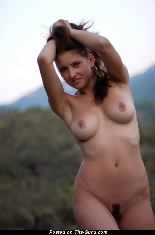 Image. Naked hot girl with medium natural boobies pic