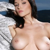 Brunette with big natural tittes and piercing pic