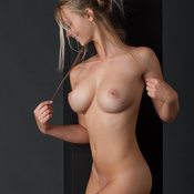 Nice female with medium tits picture