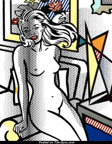 Pleasing Topless Gal (Hd 18+ Image)