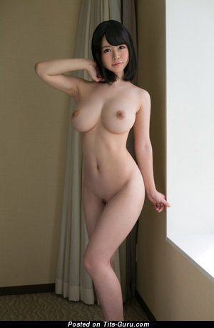 Image. Sexy nude asian blonde with big tits picture