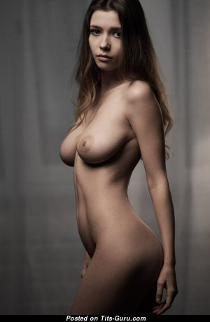 Cute Babe with Cute Bald C Size Breasts (Hd Sex Pic)