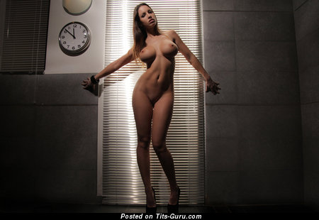 Image. Naked hot female with big fake tittys pic