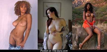 Image. Naked awesome female with big natural tits image