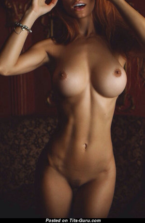 Silvia Caruso - Marvelous Brunette with Marvelous Nude Silicone Boobs (Xxx Photo)