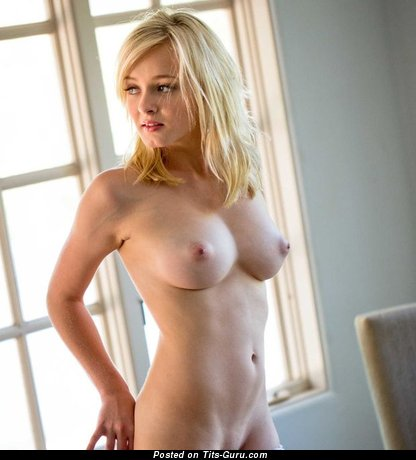 Image. Beautiful lady with medium natural tits photo