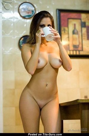 Franciele Christ - Elegant Brazilian Red Hair with Elegant Naked Real Medium Sized Tittes & Tan Lines (18+ Photo)