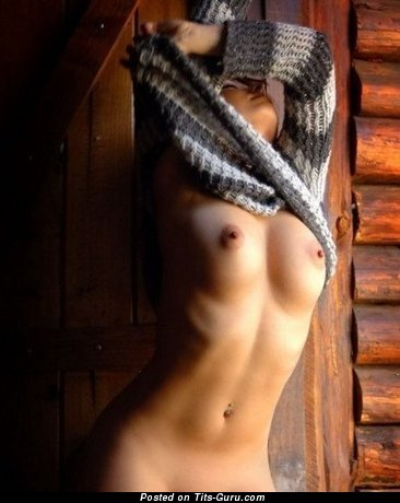 Image. Nude hot lady with medium natural tittes image