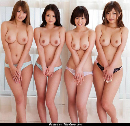 Image. Sexy nude asian brunette with medium natural tittes image