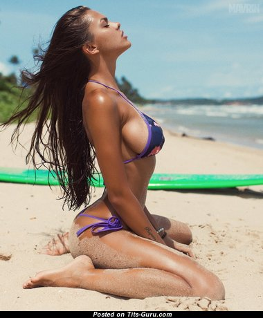 Viki Odintcova & Superb Russian Playboy Red Hair & Brunette with Superb Defenseless Dd Size Chest on the Beach (Hd Xxx Foto)