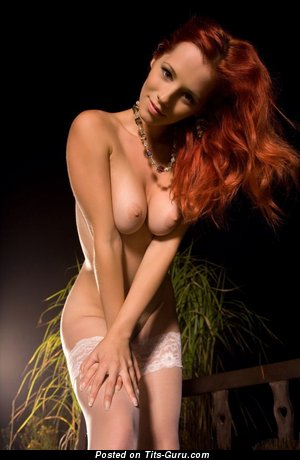 Image. Ariel - naked red hair with big natural boobs photo