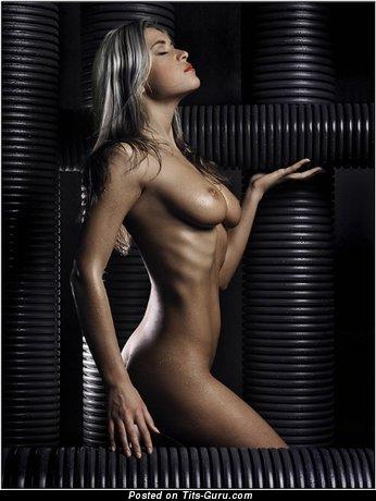 Image. Naked wonderful girl with medium natural boob photo